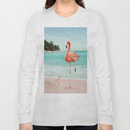 WANNABE FLAMINGO Long Sleeve T-shirt