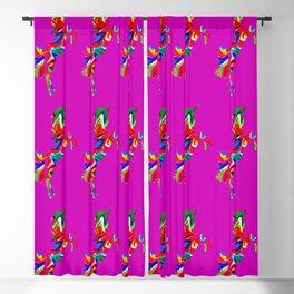 Watercolor unicorn-Purple Blackout Curtain