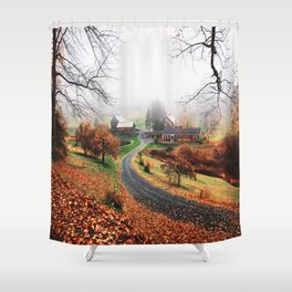 farm in vermont Shower Curtain