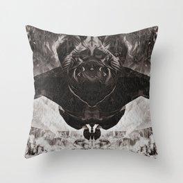 OBE B&W Throw Pillow