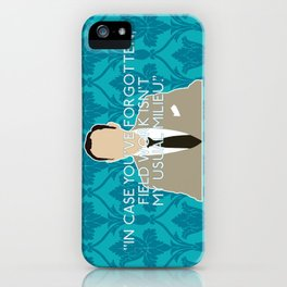 The Empty Hearse - Mycroft Holmes iPhone Case