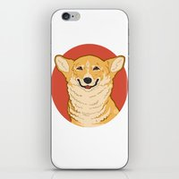 corgi iPhone & iPod Skins featuring Corgi by Greving Art