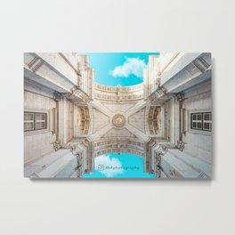Ornate triumphal arch Arco da Rua Augusta Metal Print