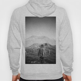 Climbing Mount Saint Helens - 120mm Film Double Exposure in Black and White Hoody