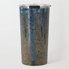 Gustav Klimt - Beech Grove Travel Mug