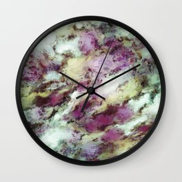 Remnants of the roses Wall Clock