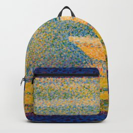 "Georges Seurat ""Moored Boats and Trees"" Backpack"