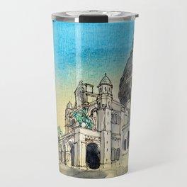 Basilica Sacre Coeur Montmartre Paris Travel Mug