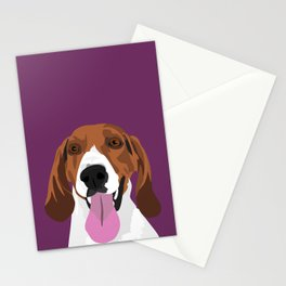 Cali the hound Stationery Cards