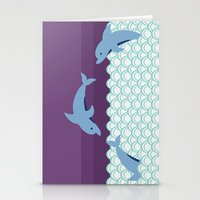 dolphins Stationery Cards featuring Dolphins by Eunice Wong