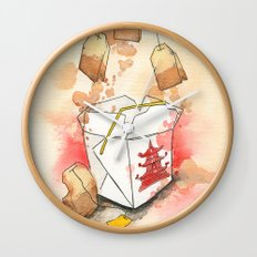 Tea Bags and Take out Wall Clock