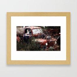 Old Truck on the Mountain Framed Art Print