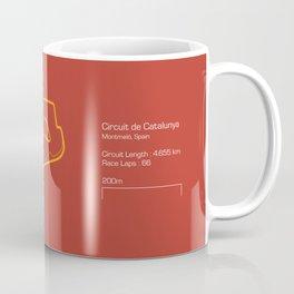 F1 Circuit Infographic- Circuit de Catalunya, Spain Coffee Mug