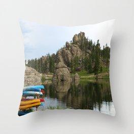 Canos At Sylvian Lake South Dakota Throw Pillow