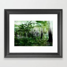 Retrollage 2.. Framed Art Print