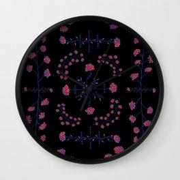 native rose garden Wall Clock