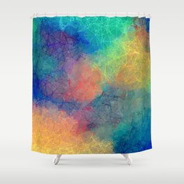 Reflecting Multi Colorful Abstract Prisms Design Shower Curtain