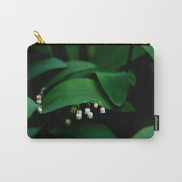 Lily Of the Valley With Large Green Leaves Carry-All Pouch