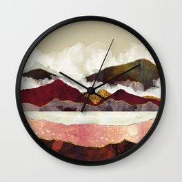 Melon Mountains Wall Clock