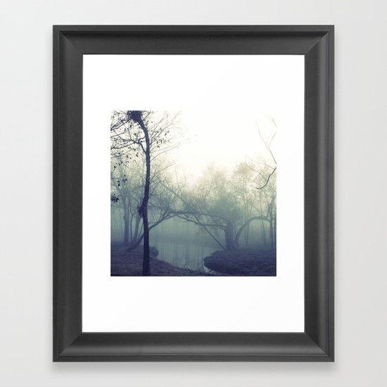 misty morning ... Framed Art Print