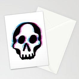 Glitch Skull Stationery Cards