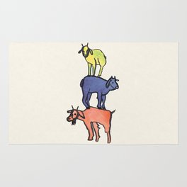 3 Billy Goats Up Rug