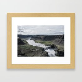 dettifoss Framed Art Print