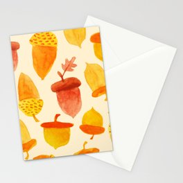 Acorns - Off White Stationery Cards