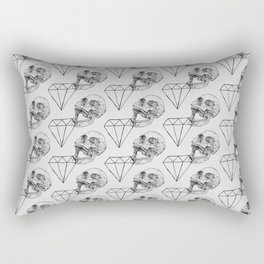 Skulls and Diamonds Rectangular Pillow