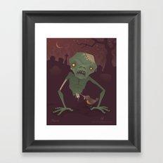 Sickly Zombie Framed Art Print