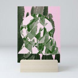 Mod-geo shapes on cacti Mini Art Print