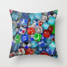 United Colors of Internet - Painting Style Throw Pillow
