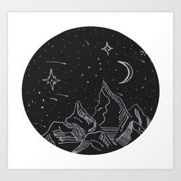 Night Sky Life Art Print