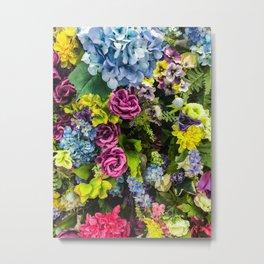 Colorful Blooming Flowers Metal Print