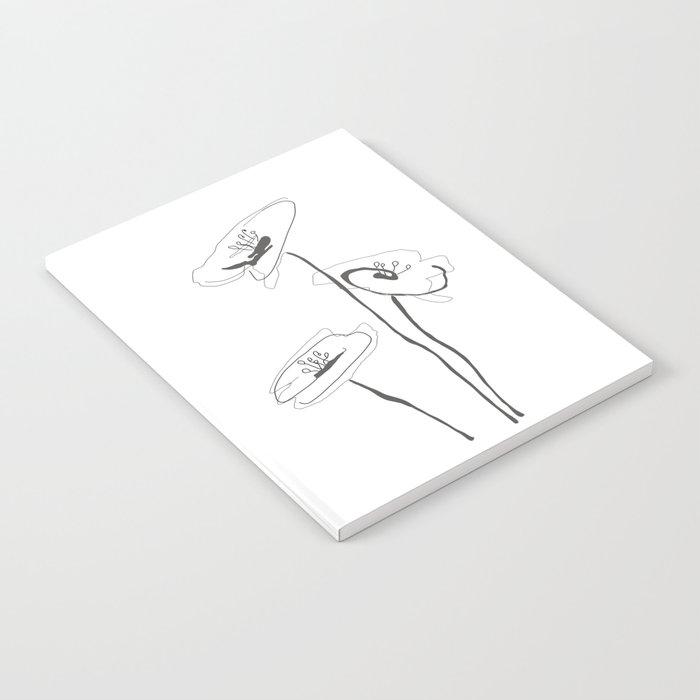 Line Art of Flowers Notebook