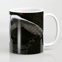 Snowy Owl With Open Wings Coffee Mug