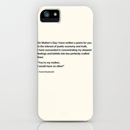 Mothers Day V iPhone Case