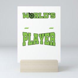 World's Okeyest Dart Player Sarcastic Humor Dart Player Dart Lovers Mini Art Print