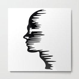 Melt Face Metal Print