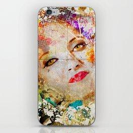 Retro Woman iPhone Skin