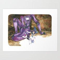 Moonbot #5: Violet Art Print