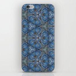 swirl blue pattern iPhone Skin