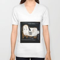 sheep V-neck T-shirts featuring sheep by woman