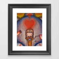 The Robot Who Stole My Heart Framed Art Print