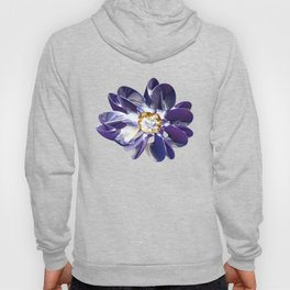 Blue & Gold Flower Hoody