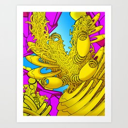 AUTOMATIC WORM 2 Art Print