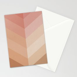Chevron Geometry 4. Natural peachy Stationery Cards