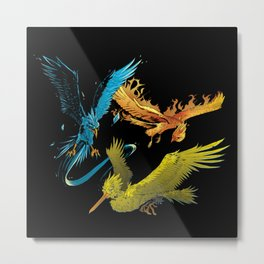 The Three Legendary Birds Metal Print