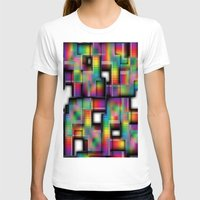 plaid T-shirts featuring Puzzled Plaid by Robin Curtiss