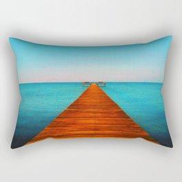 Beach Dock Rectangular Pillow